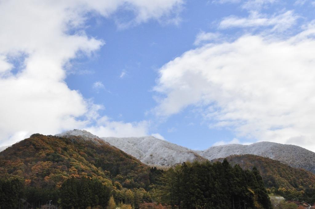 遠くの冠雪