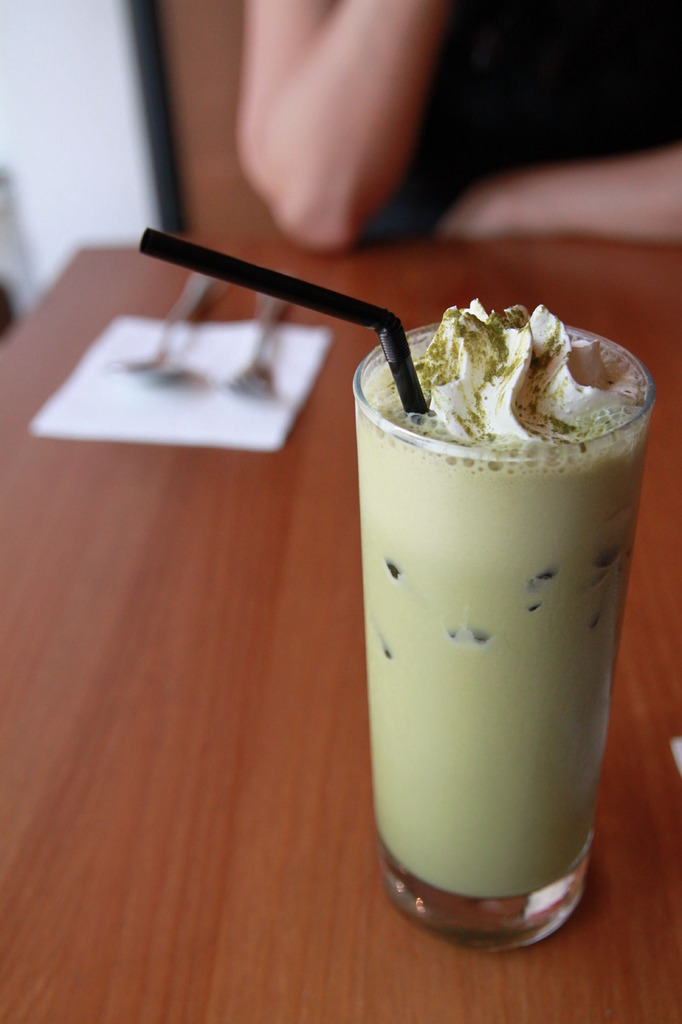 Green tea with milk