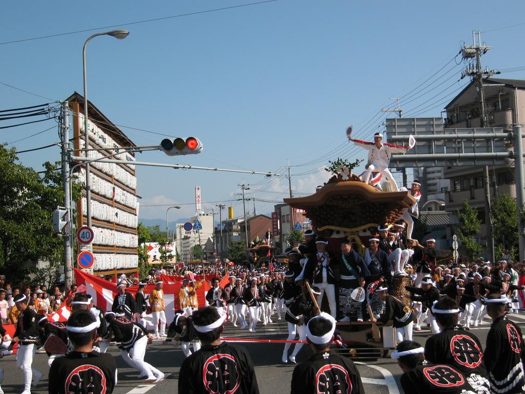 岸和田祭 試験曳き