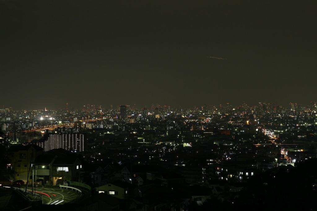 生駒山より大阪の夜景