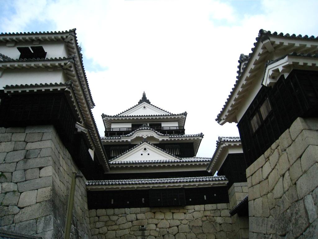 聳え立つ松山城