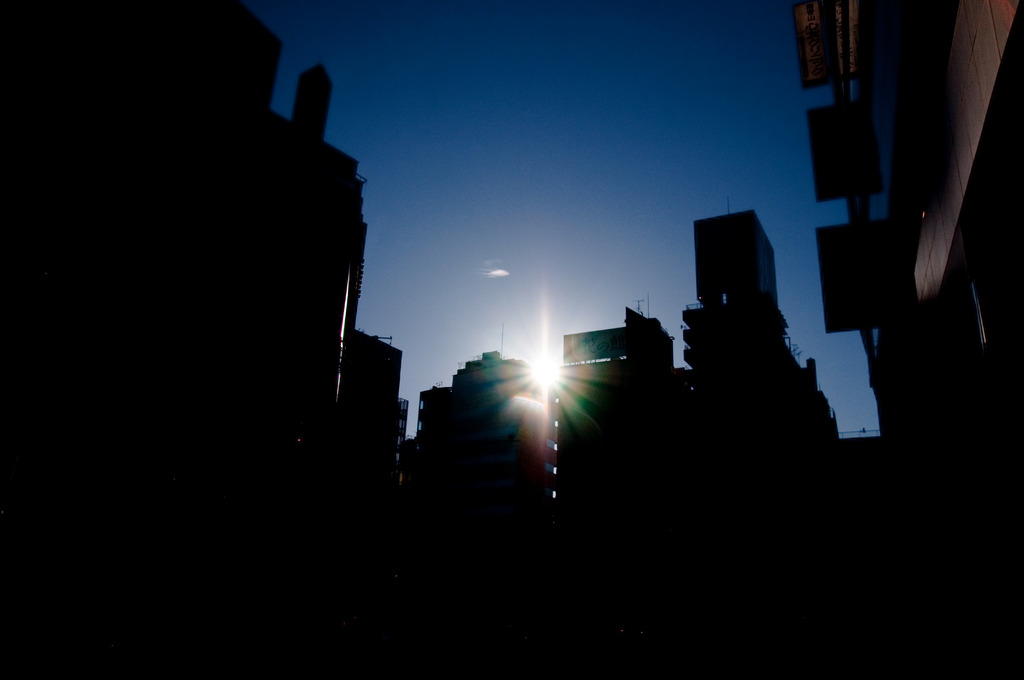 buildings and the sun