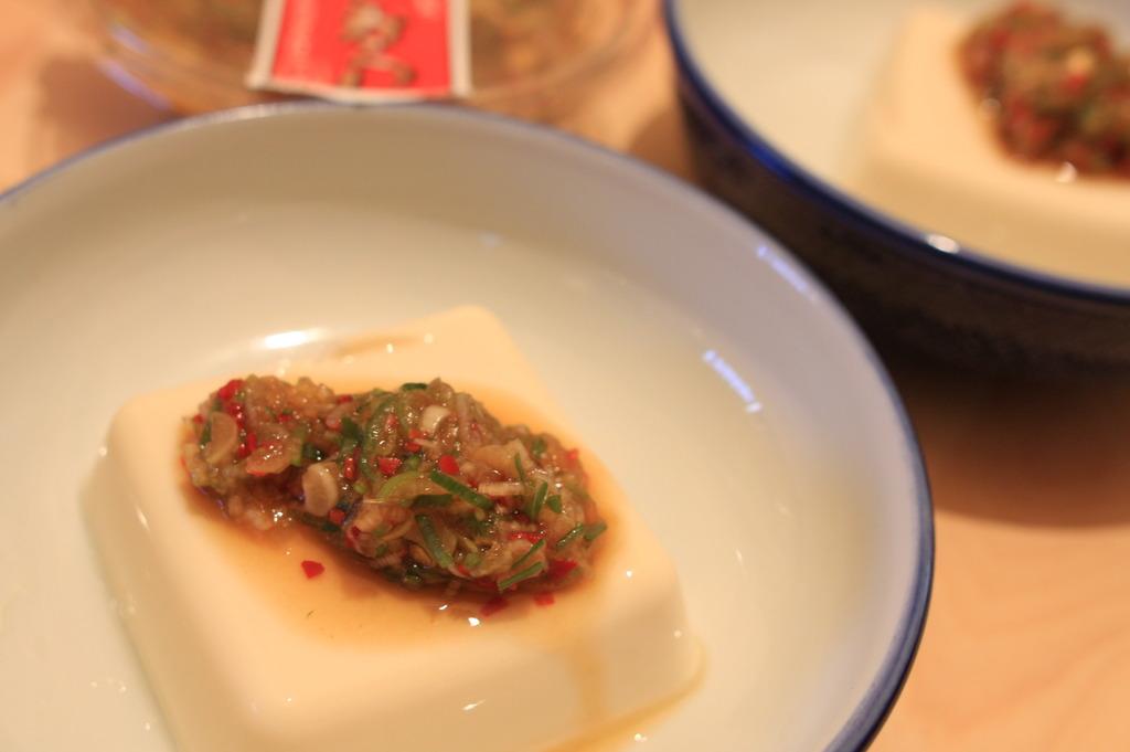 ねぎからし+豆腐