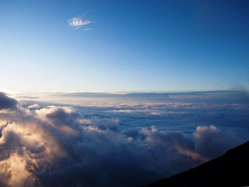 広がる雲海