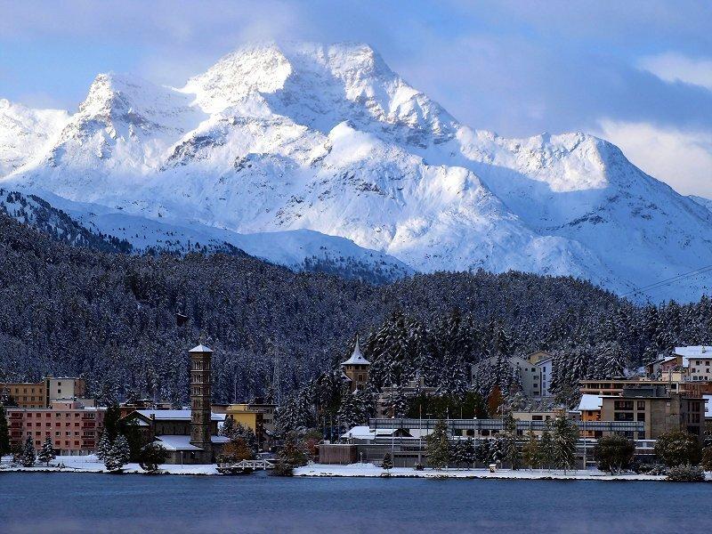 降雪明けのゴルバッチ(山)方面