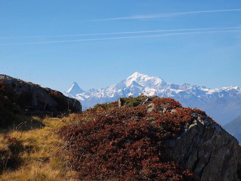 マッターホルン遠望(モースフルー頂上から)