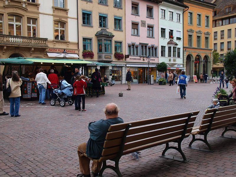 旧市街の広場(シャウハウゼン)