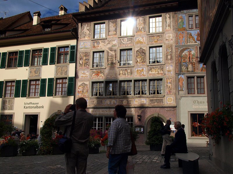 ホテルアドラーのフレスコ画(シュタインアムライン旧市街)