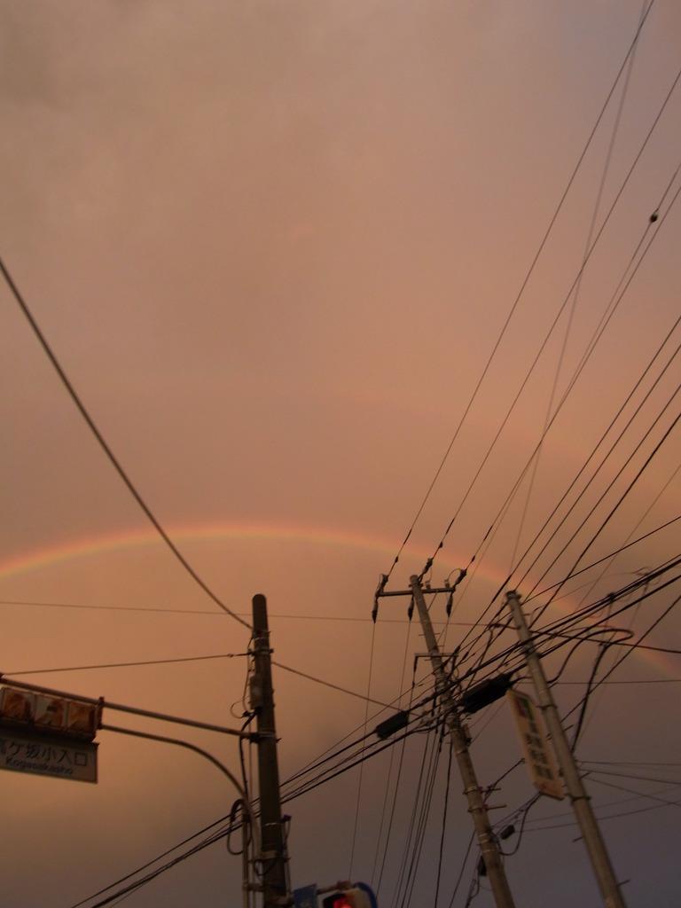 虹ふたつ。