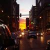 シカゴの夕焼け