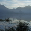 奥日光小田代原に出現した湖の朝