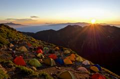 南アルプスの朝_Morning of Southern Alps