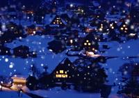 OLYMPUS E-M1で撮影した(雪の夜の白川郷)の写真(画像)