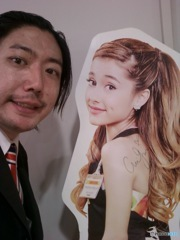 hideo ishihara with ariana grande