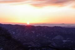 赤城山からの朝陽