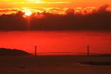 明石海峡の夕焼け