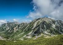 真夏の立山連峰中心部全貌