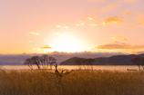 春夕の湖北