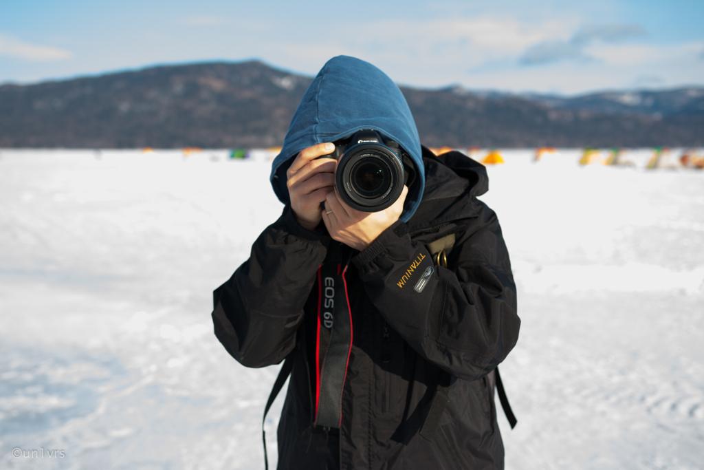 阿寒湖で撮り合い。