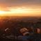 大阪平野の夜明け