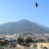 島原城からの雲仙の眺望