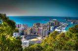 スペイン マラガの街を見下ろす