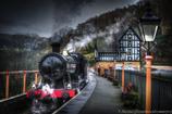 Steam train at Berwyn station