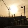 和光市の理研側の夕日
