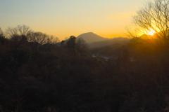 冬の夕焼け 1