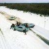 雪の高速道路 NY 寒波の年