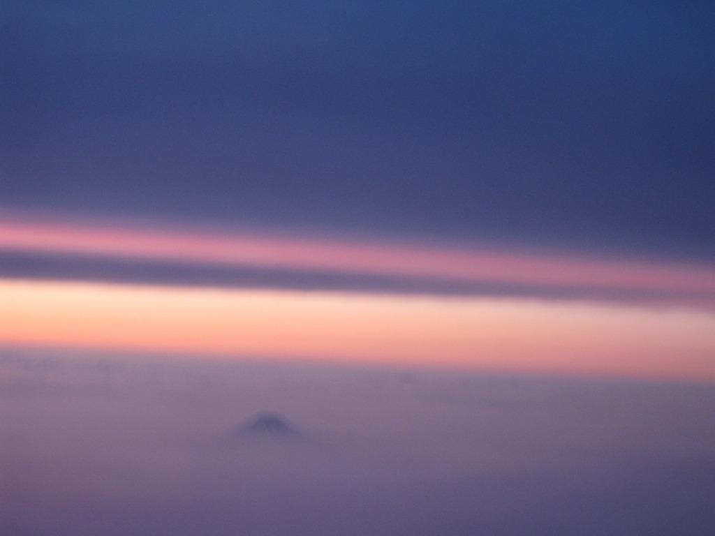富士山上空