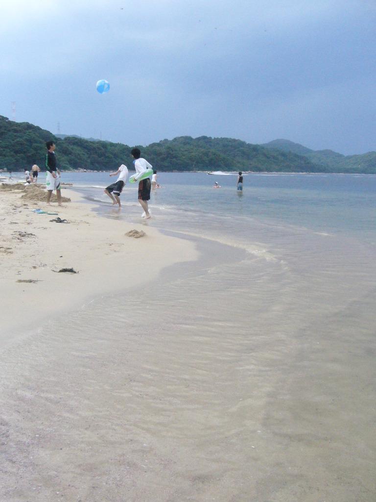 海辺で青春♪