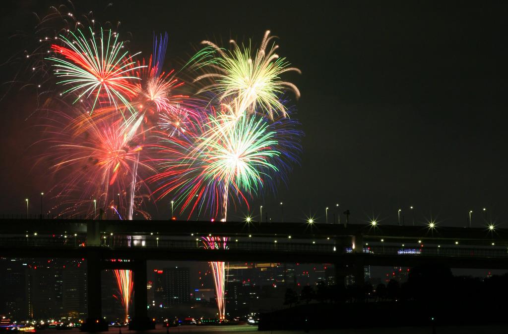 Rainbow Fireworks