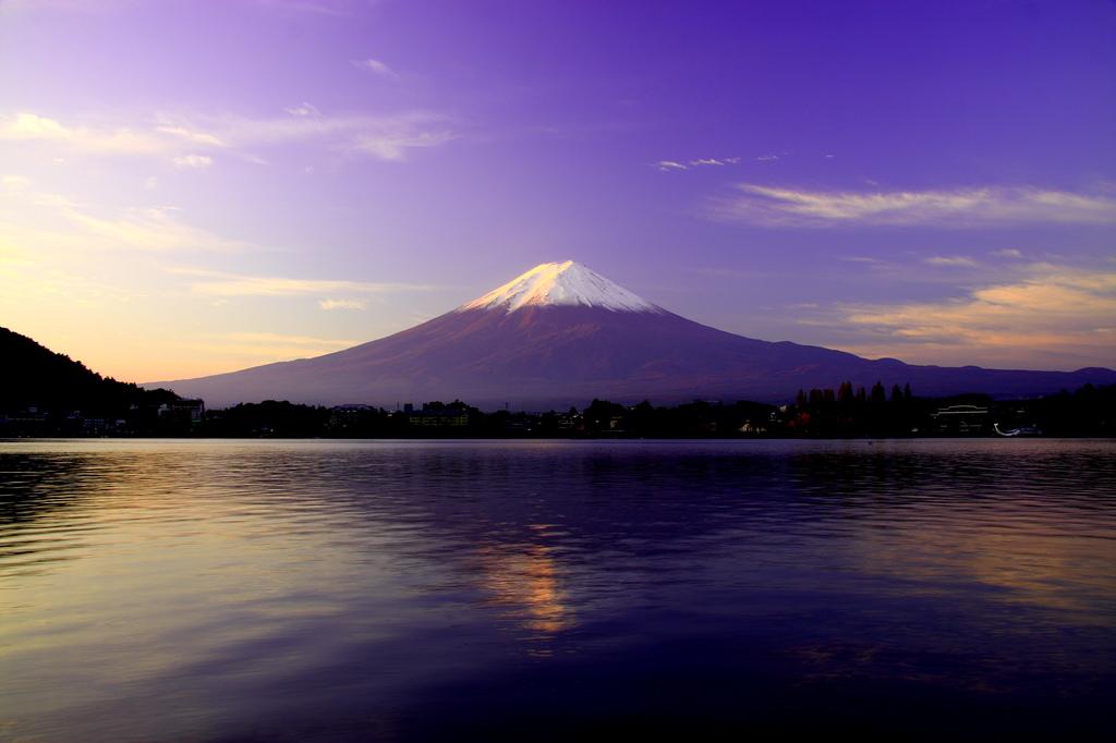 逆さ富士 in 河口湖