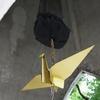 原爆の子の像 内部千羽鶴