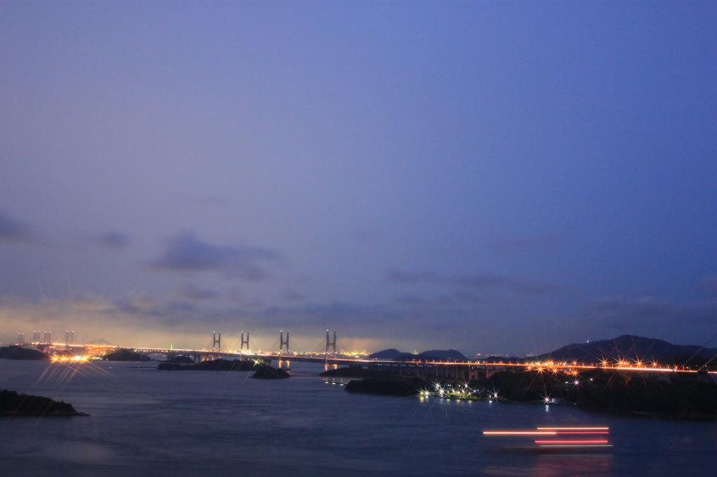 雨の瀬戸大橋1