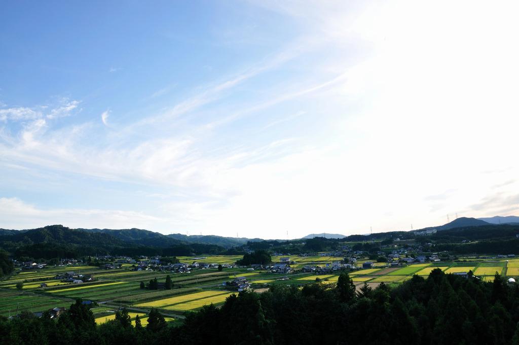 山間の農村