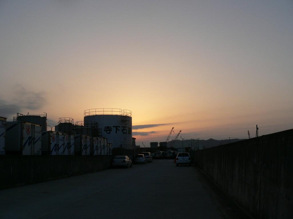 カルモ島で見た夕日
