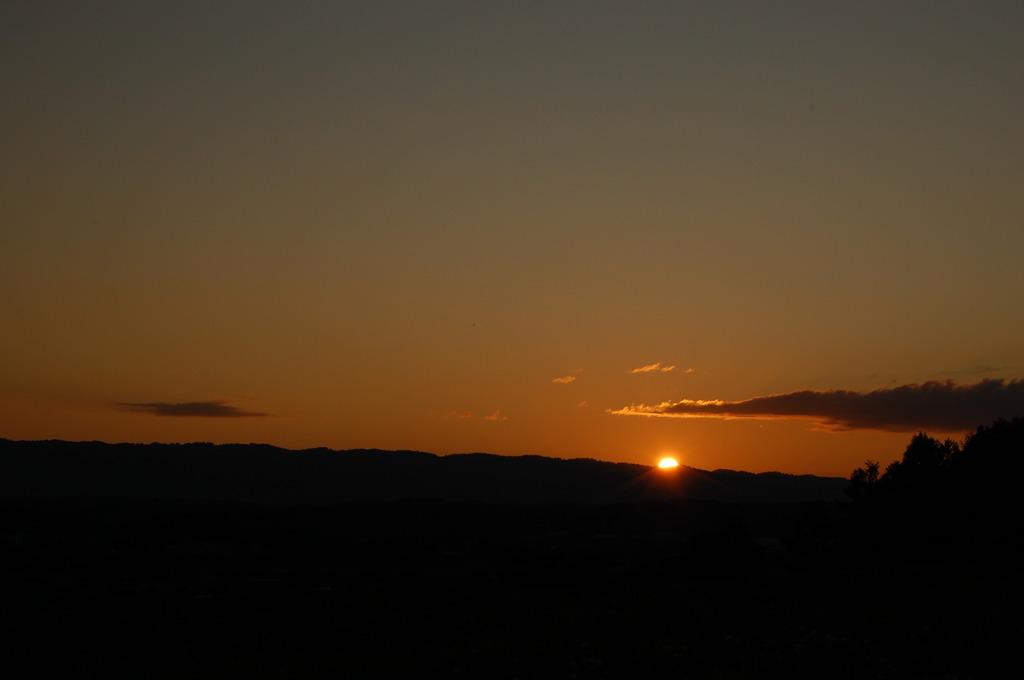 田舎の夕日