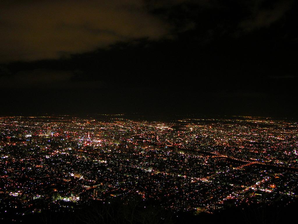札幌の夜景(藻岩山から)