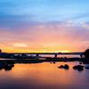 夕焼けの多摩川