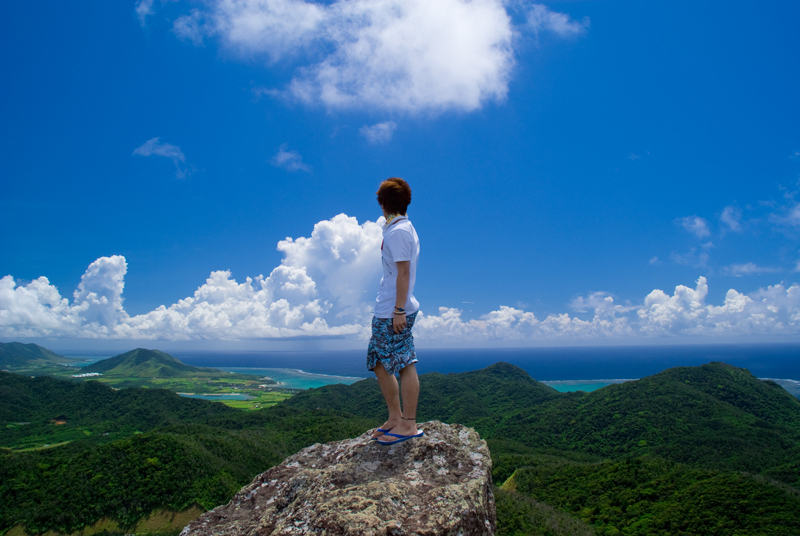 石垣島を見おろし