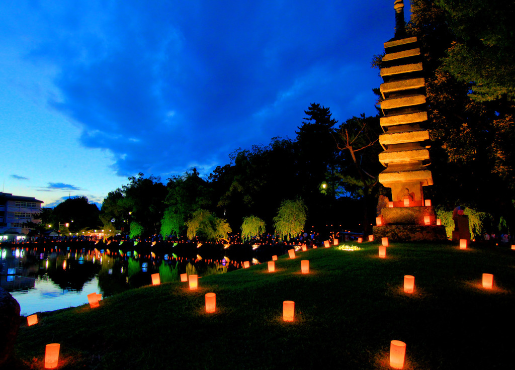 なら燈花会-猿沢の池