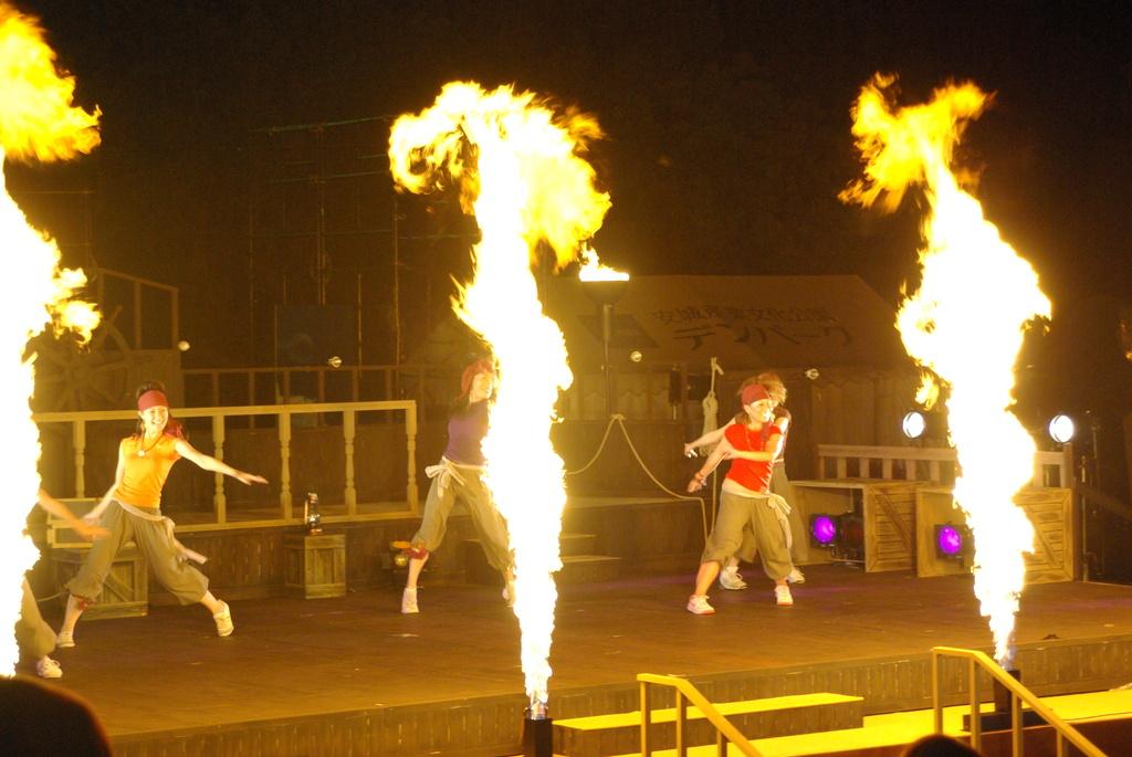 花火とダンス