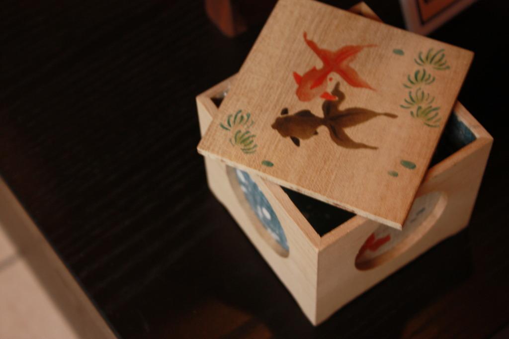 箱の中の金魚