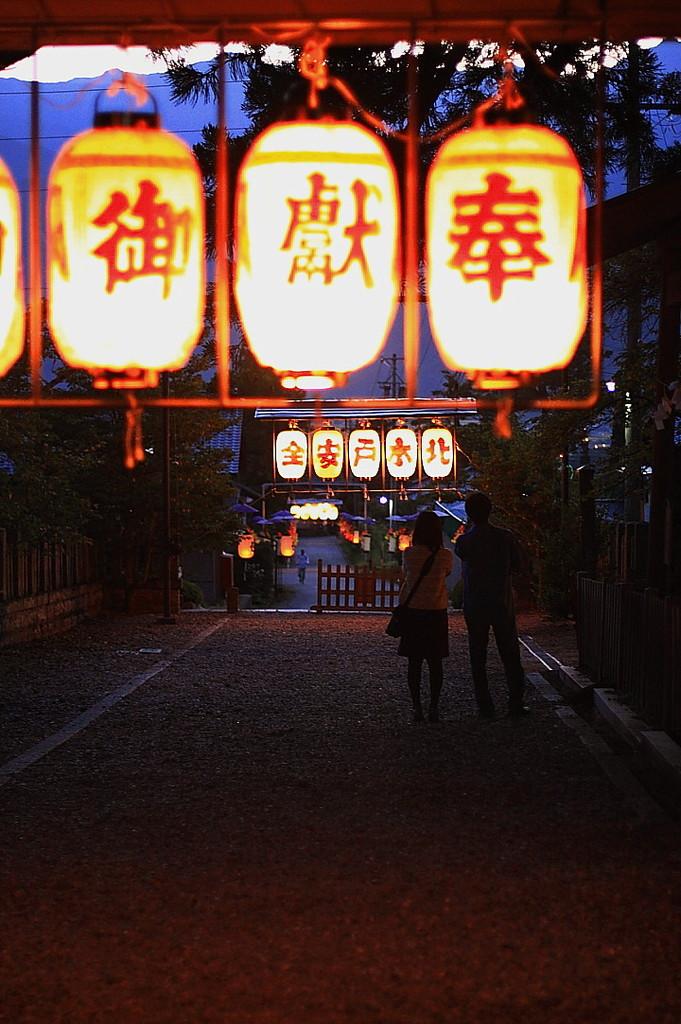 秋祭りの夜