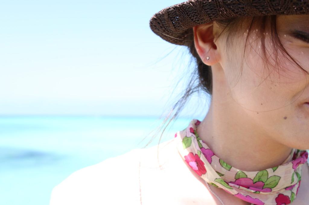 沖縄の海と嫁