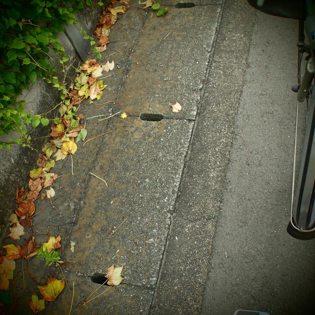自転車の足元