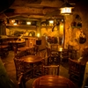 A subterranean restaurant