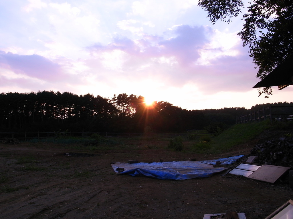 清里の夕日